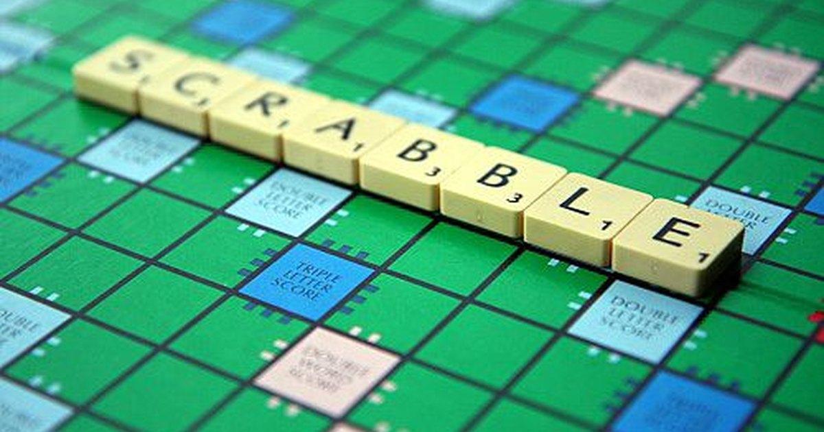 A board of Scrabble