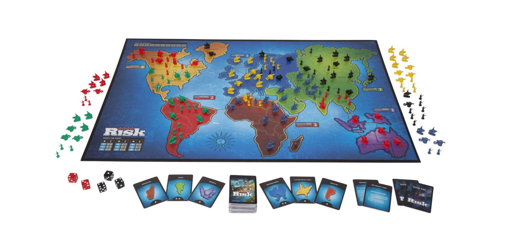 Risk: Global Domination game board