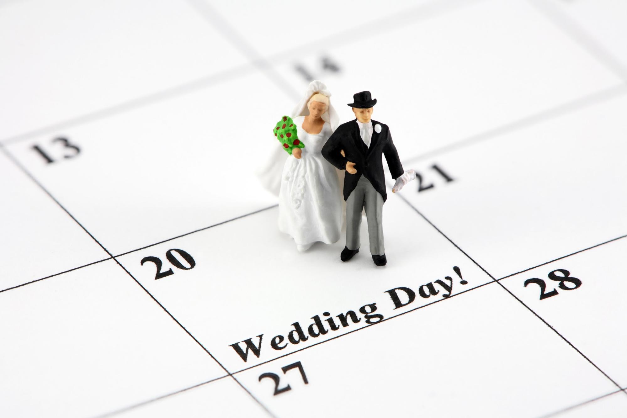 Wedding day calendar