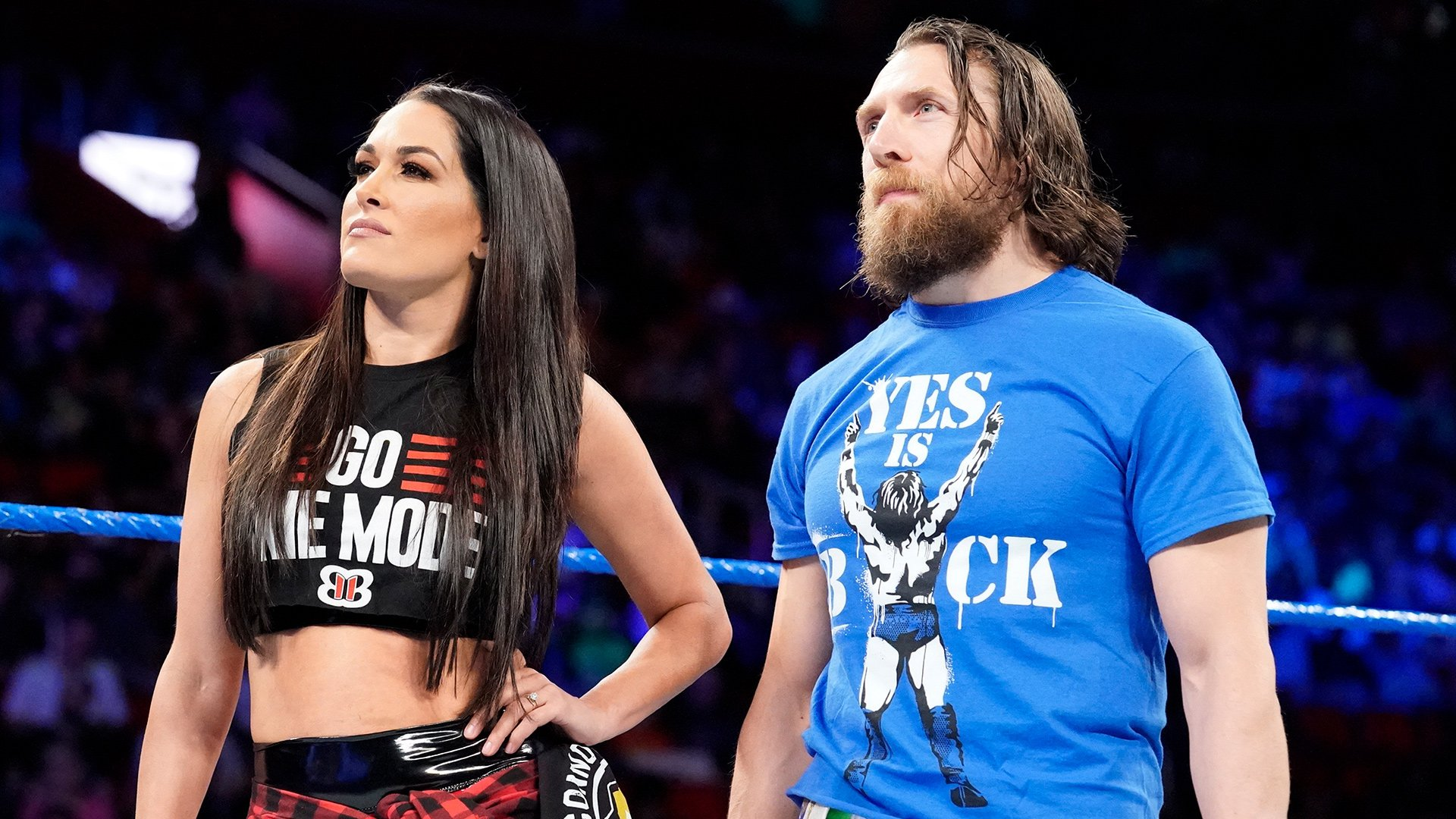 Brie Bella and Daniel Bryan on the ring together
