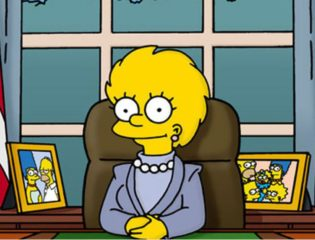 Lisa from the Simpsons as president