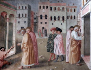 Masolino's The healing of the cripple