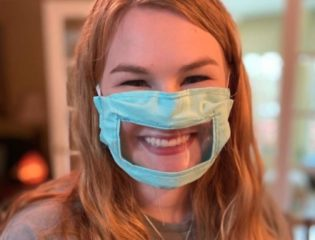 A College Senior Creates Reusable Face Masks for the Deaf