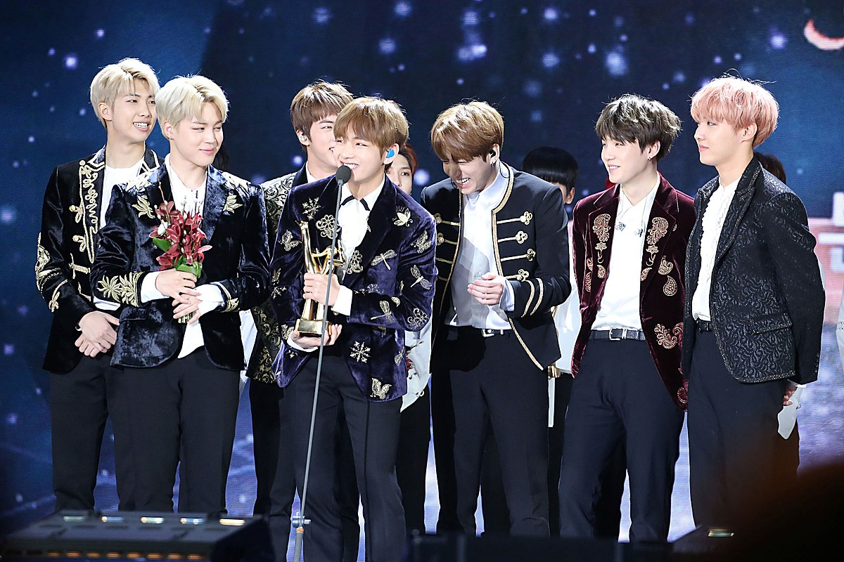 BTS at an awards show