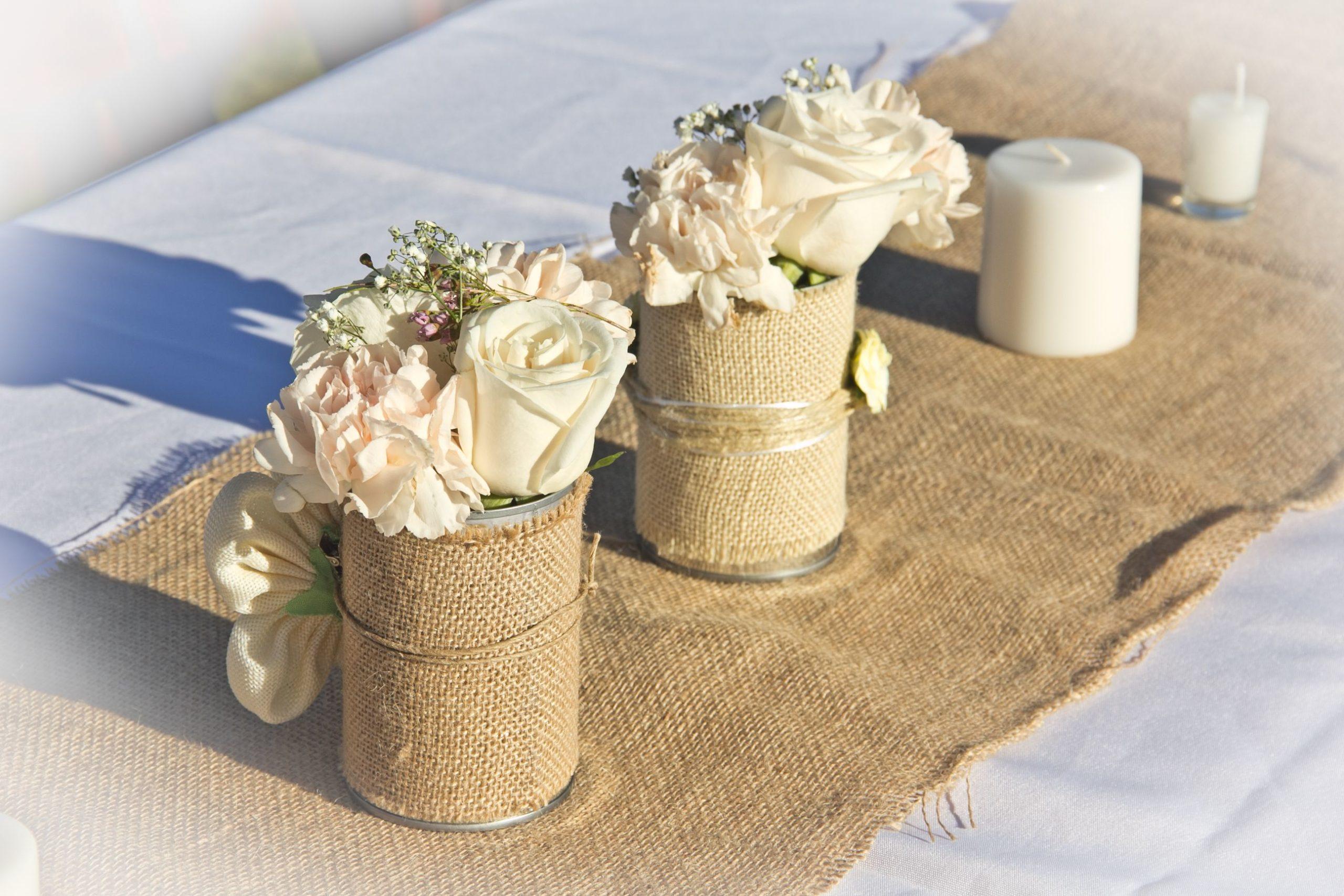 Wrapped Floral Vase