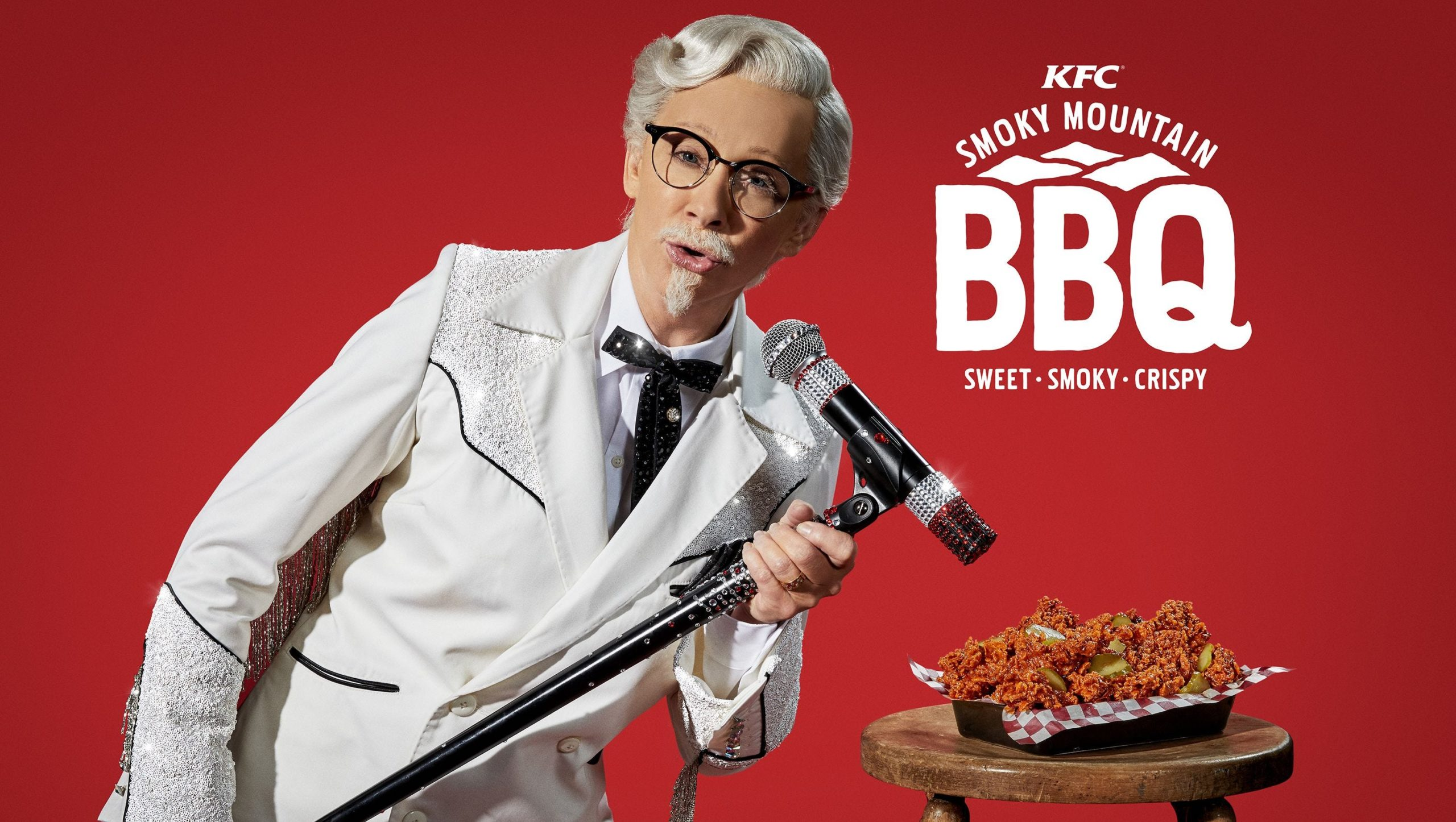 Reba McEntire In an Add as the Colonel