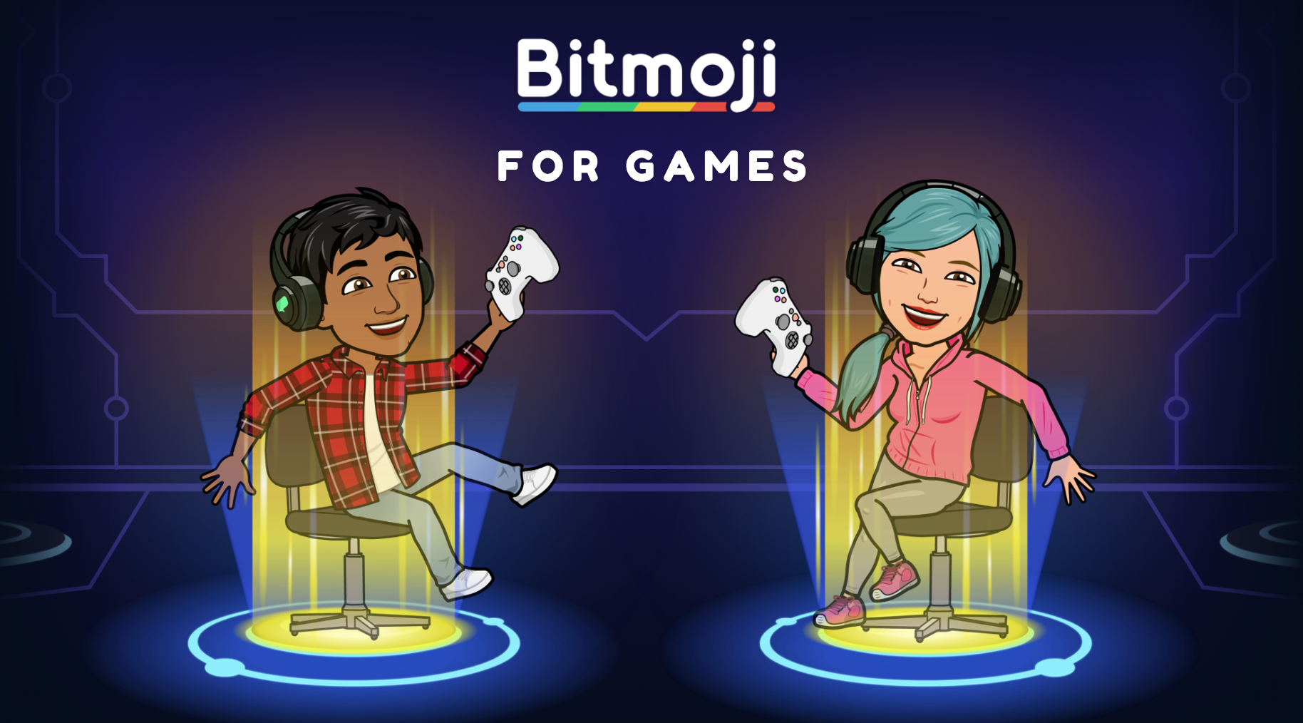 The Bitmoji Avatars which players will use in-game