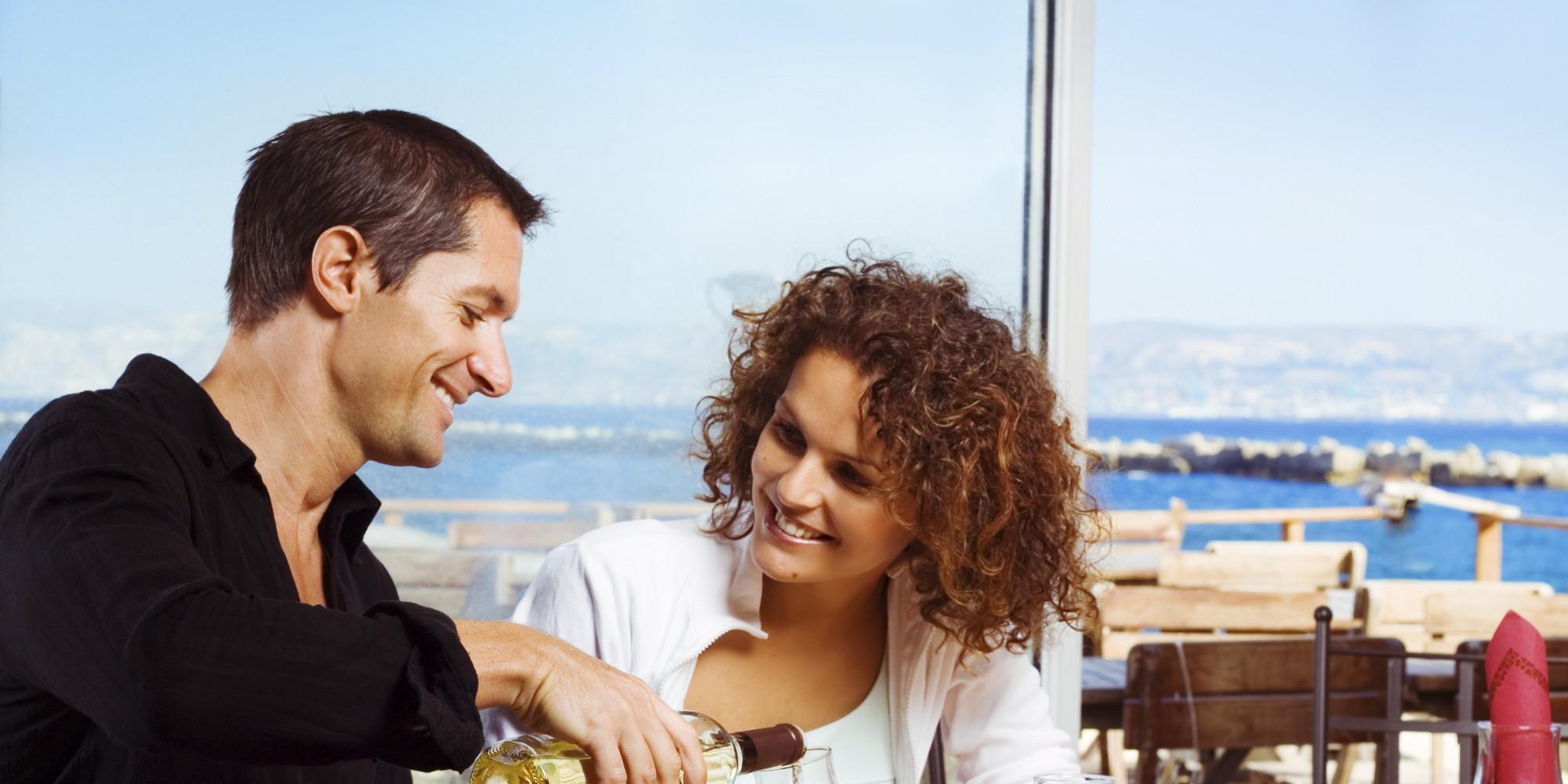 First date at a restaurant