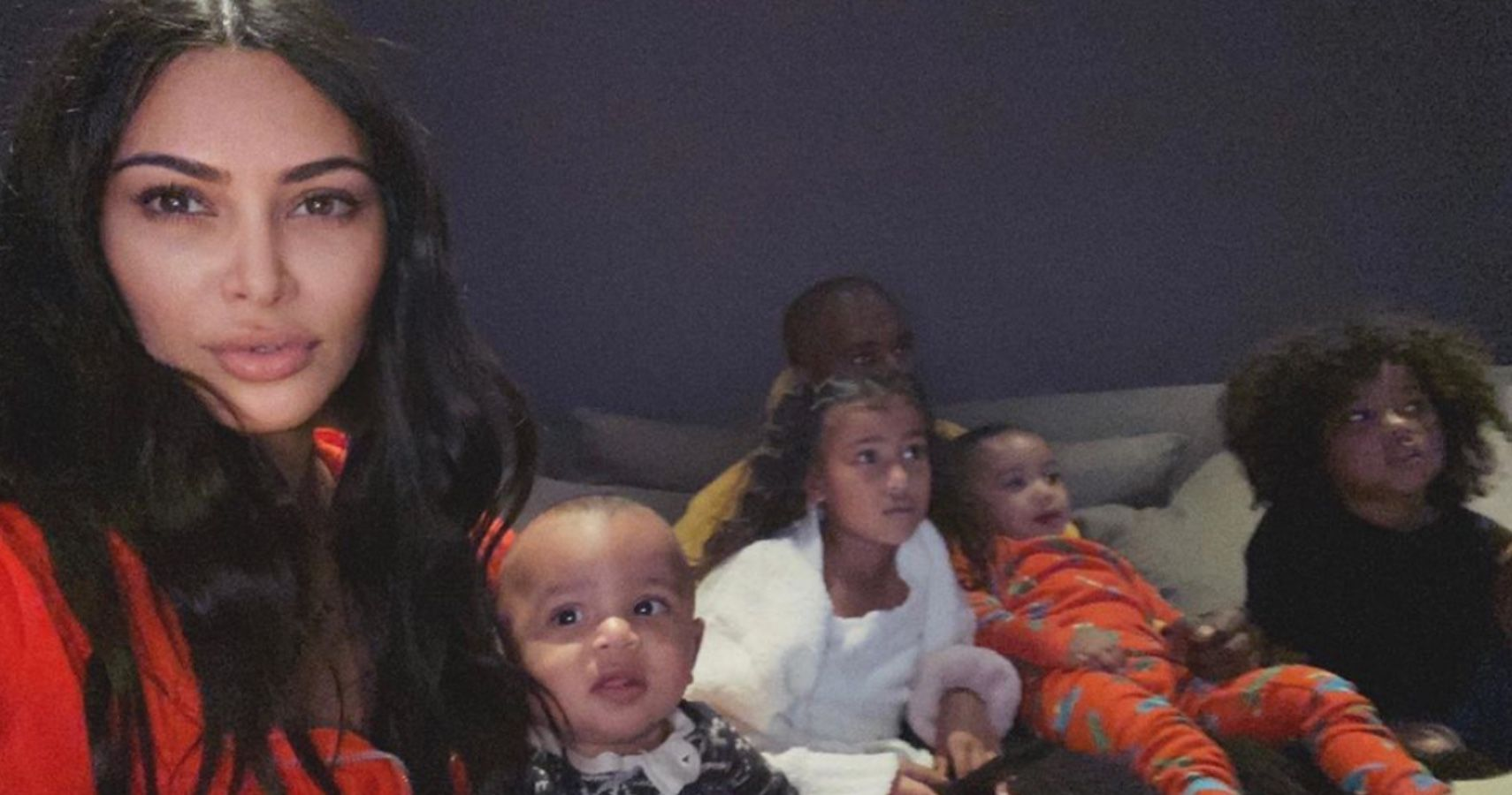 Kim and her kids