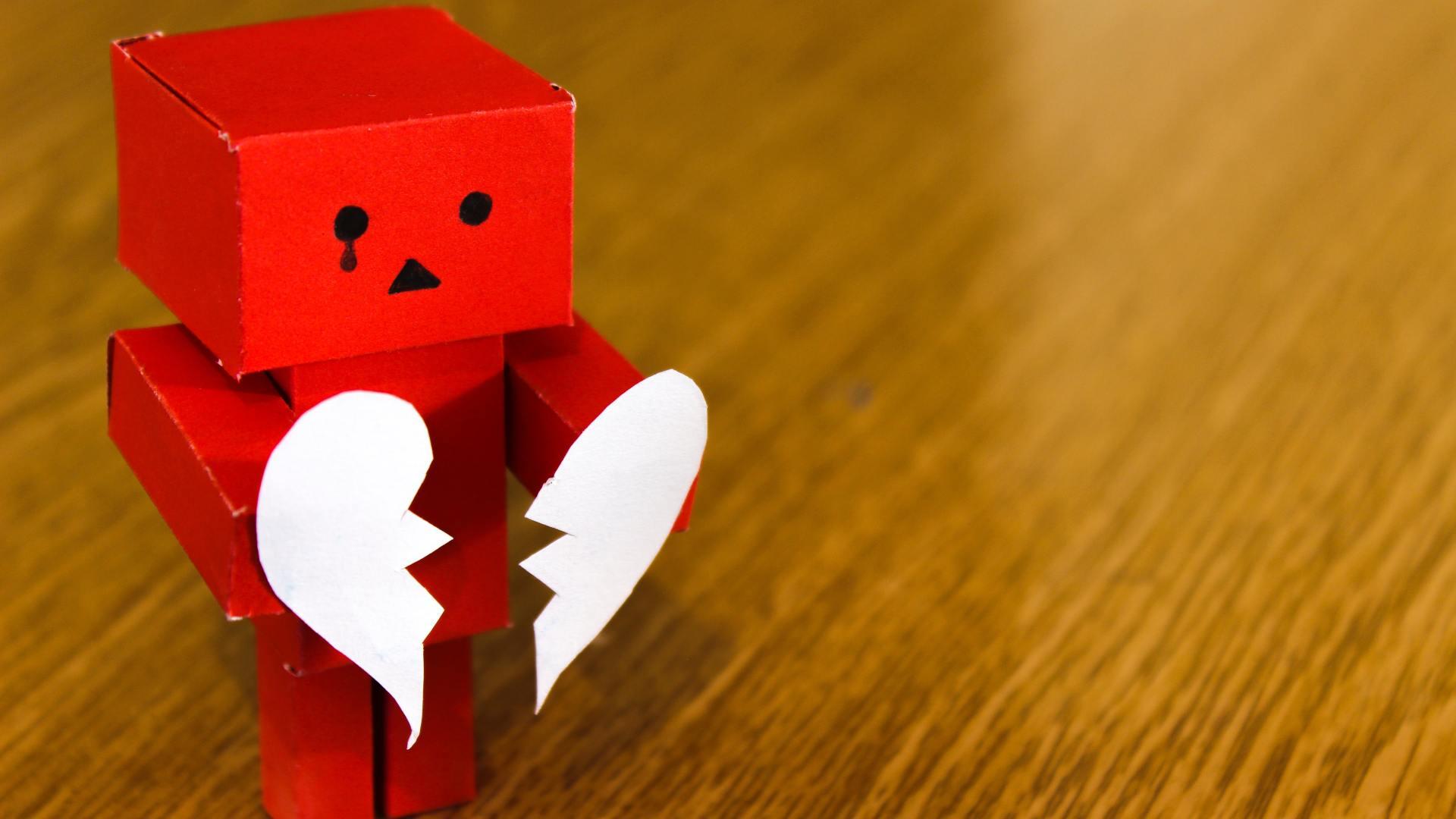 A depiction of a broken heart