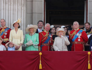 The British Royal Family during Her Majesty The Queen's Birthday Parade
