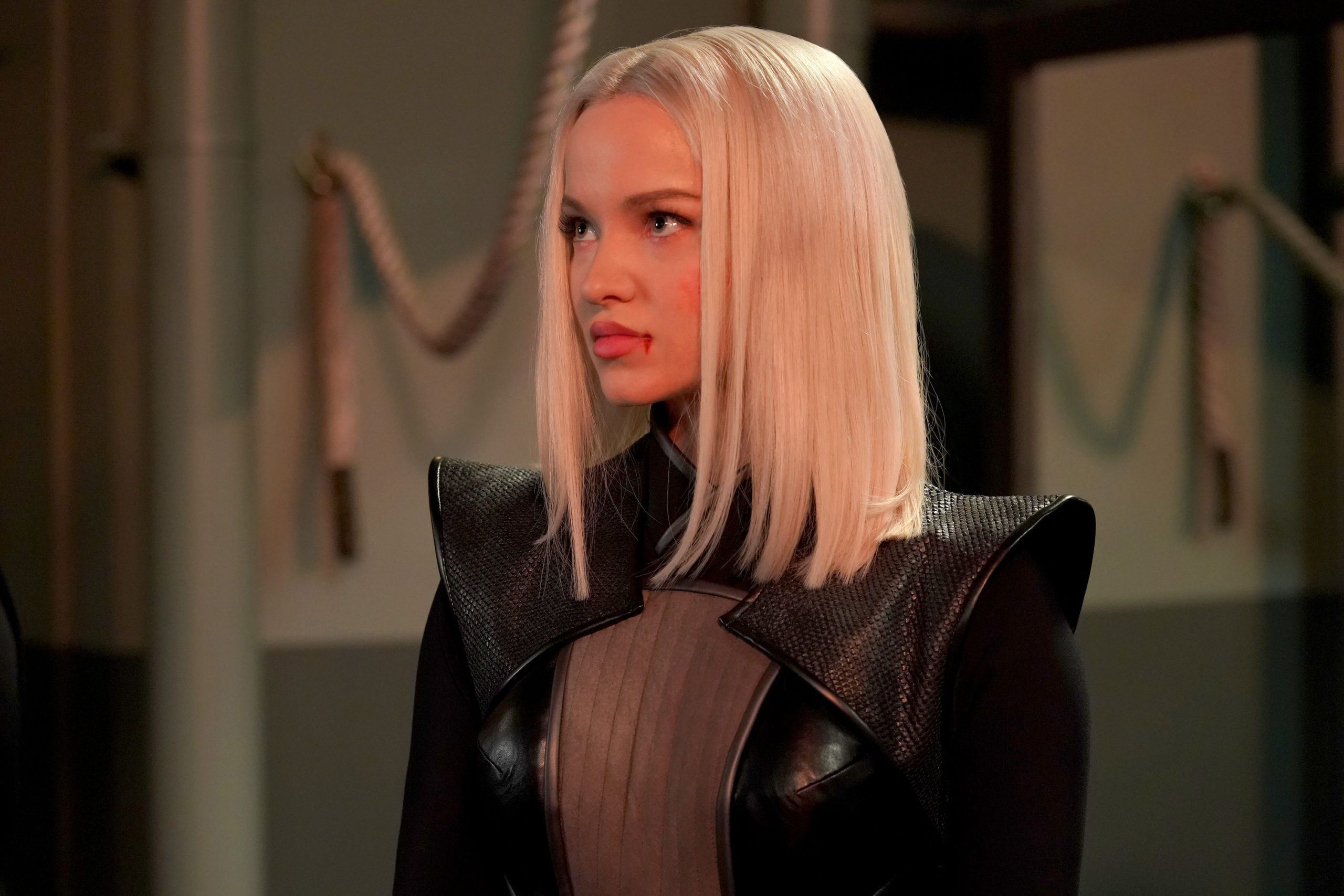 Dove Cameron portraying the supervillain, and the daughter of HYDRA leader Daniel Whitehall, Ruby Hale in Marvel's Agents of S.H.I.E.L.D.
