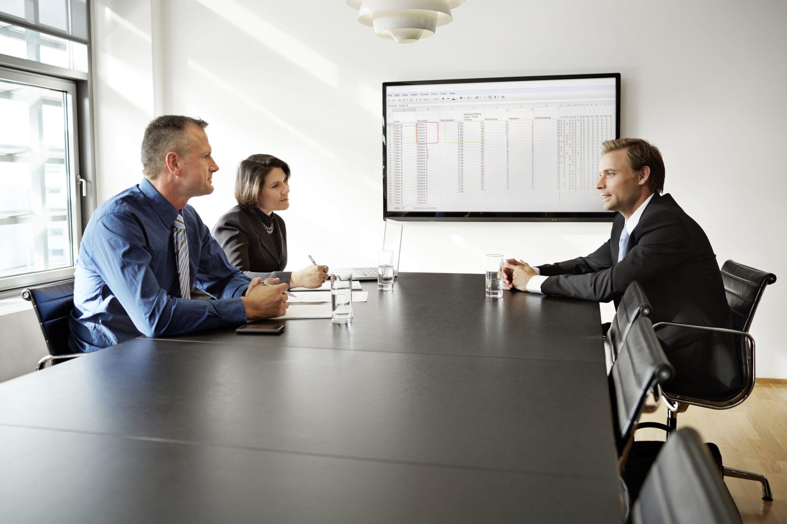 People talking in a meeting room